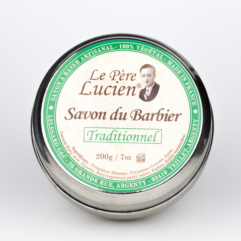 Savon du barbier traditionnel 200g - Savon à raser Le Père Lucien