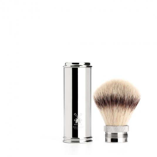 blaireau-synthetique-voyage-chrome-muhle-silvertip-fibre