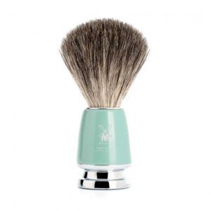 rytmo-blaireau-de-rasage-muhle-gris-premier-choix-poignee-en-resine-verte