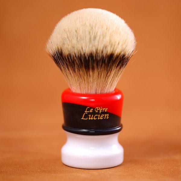blaireau-rasage-mred-lpl-silvertip-28mm-resine-noire-rouge-blanche-n14