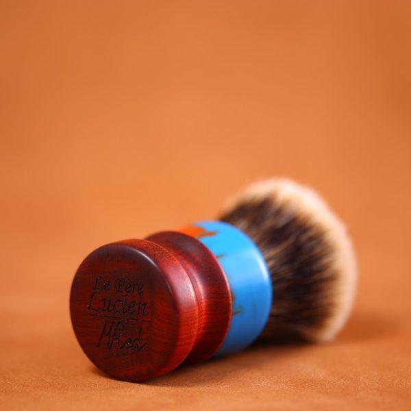 blaireau-rasage-mred-lpl-finest-26mm-resine-bleue-rouge-bulb-red-heart-n10