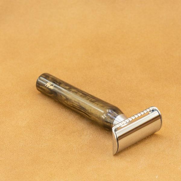 rasoir-de-securite-artisanal-mred-manche-resine-bronze