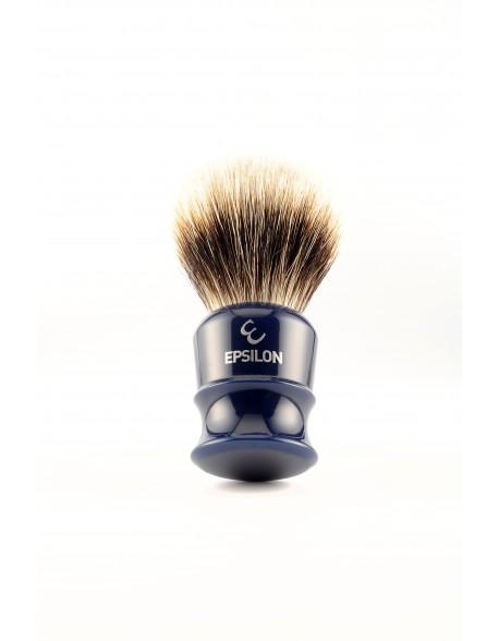 blaireau-rasage-Epsilon-26mm-resine-bleue