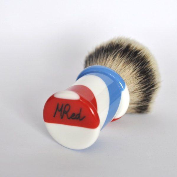 blaireau-mred-lpl-28-mm-finest-hd-bulb-sur-resine-tricolore