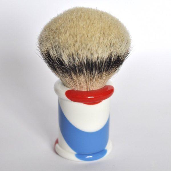 blaireau-mred-lpl-28-mm-silvertip-bulb-sur-resine-tricolore