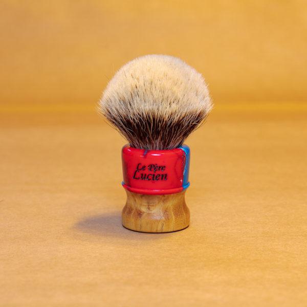blaireau-mred-lpl-26mm-finest-bulb-sur-frêne-résine-bleue-rouge