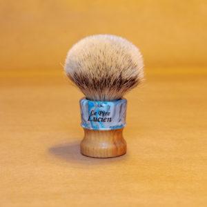 blaireau-mred-lpl-26mm-HMW-bulb-sur-frene-resine-bleue-blanche
