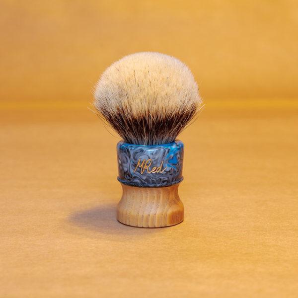 blaireau-mred-lpl-26mm-finest-bulb-sur-bois-frêne-résine-noire-bleue