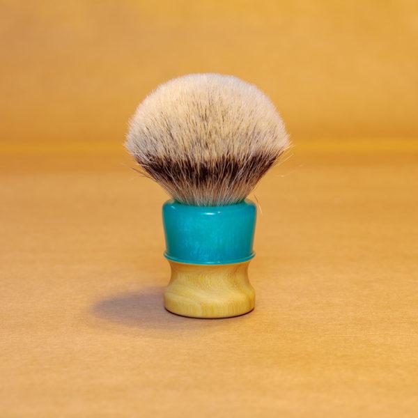 blaireau-mred-lpl-26mm-hmw-sur-bois-oranger-resine-turquoise